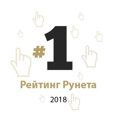 Рейтинг Рунета: 1 место среди агентств по SEO и контекстной рекламе в Украине за 2018